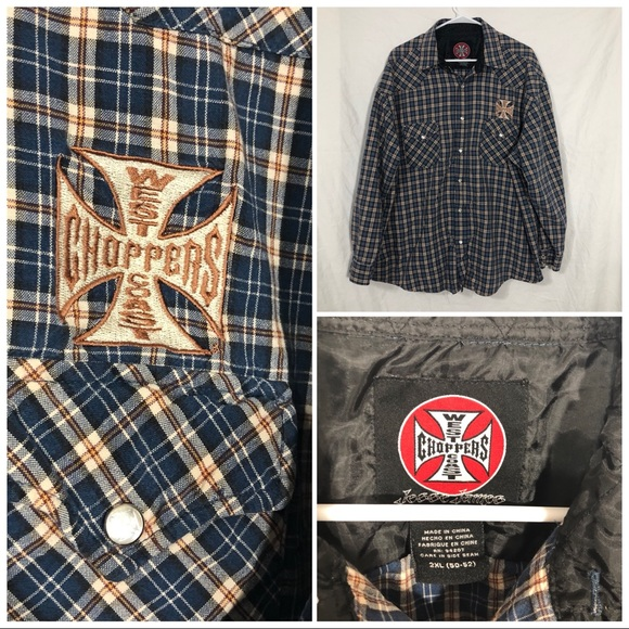 West Coast Choppers Other - West Coast Choppers L/S Snap Button shirt 2X